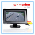 4.3'' Car Monitor Foldable Color Car Reverse Rearview  Parking System LCD Monitor For Car Rear View Camera 3 in 1 Car Monitors