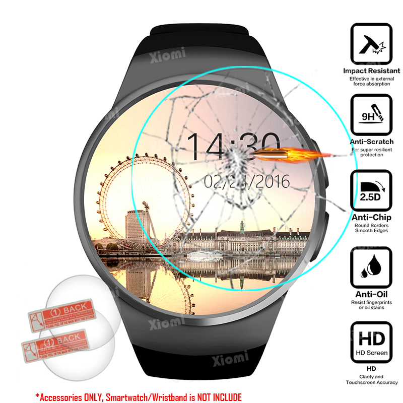 2wipes Screen-Protector Protective-Film Smartwatch 4pcs/Lot Tempered-Glass for IPS BT4.0