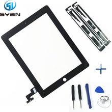 Vidro touch screen para ipad 2 9.7 '', painel de vidro digitalizador de tela touch screen a1395 a1396 a1397