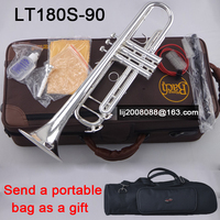 trumpet bach LT180S 90 Falt Silver Plated Exquisite Hand Carved B Flat mouthpiece case Professional level trumpet accessories