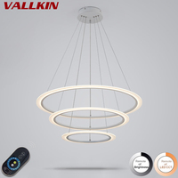 LED Simple Pendant Lights Lamp For Dining Room DIY Dimmable Circle Acrylic Lustre Pendant Light Pendant Hanging Ceiling Fixtures