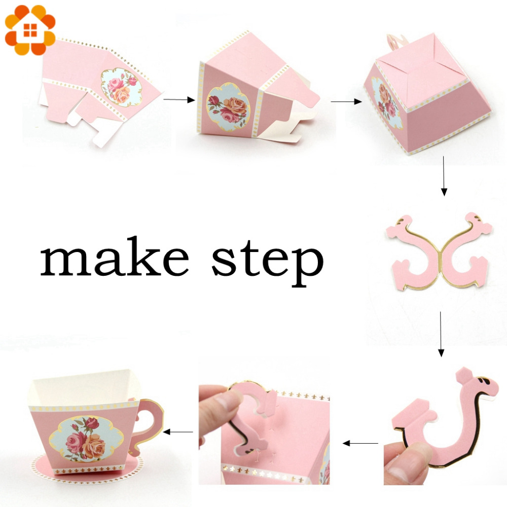 10PCS/Lot Teapot/Tea Cup Shape Candy Boxes Wedding Gifts Party ...