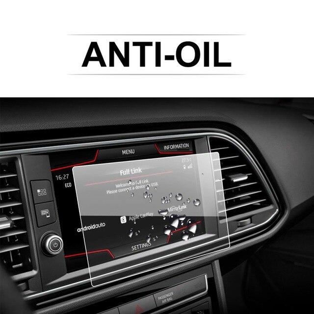 Ruiya protetor de tela do carro para leon x perience 8 Polegada 2017 gps navegação touch center display auto interior adesivos acessórios