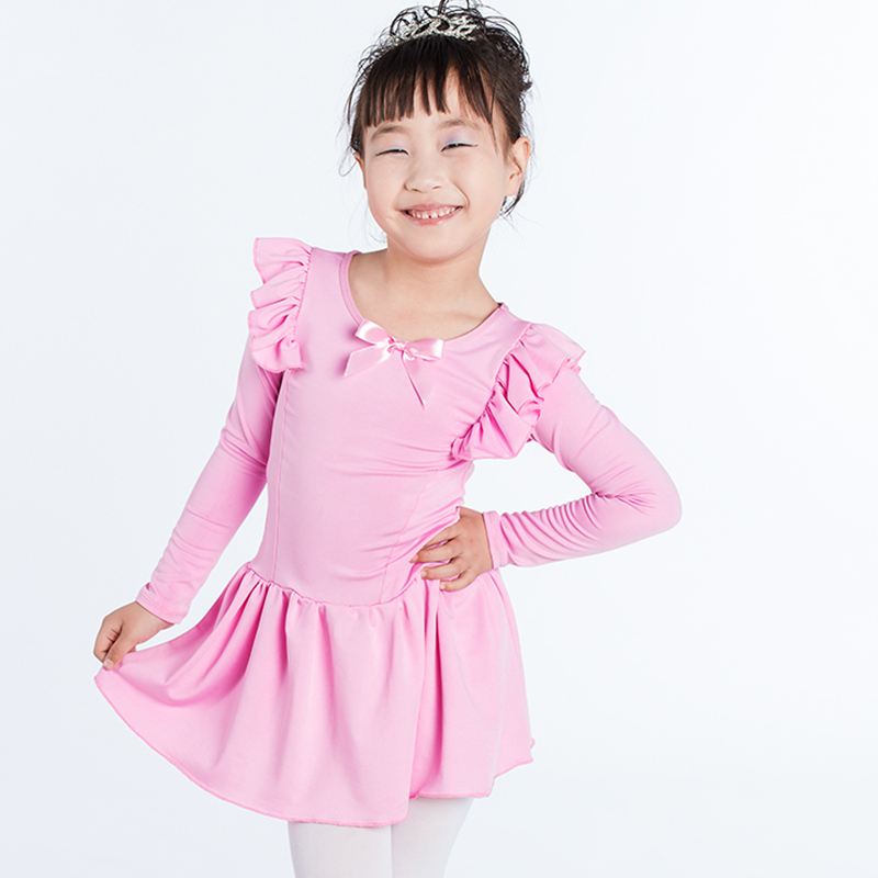 Girl Latin Dress Bow-knot Dance Performance Costume Children Latin Skirt Competition Practice Dress Ballroom Children Party