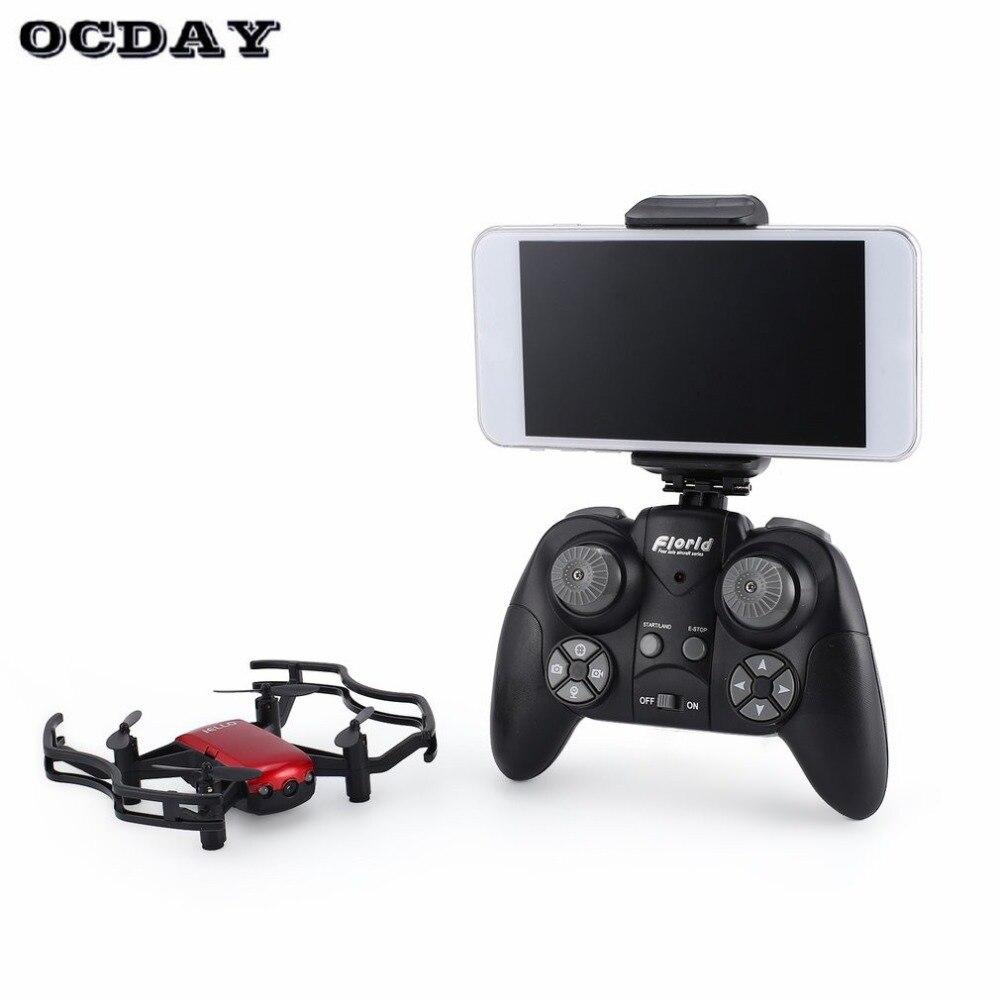 Heerlijk F21w Mini Pocket Fpv Rc Quadcopter Drone Met 0.3mp Wifi Camera Real-time Hoogte Houden Headless Modus Een Sleutel Terugkeer