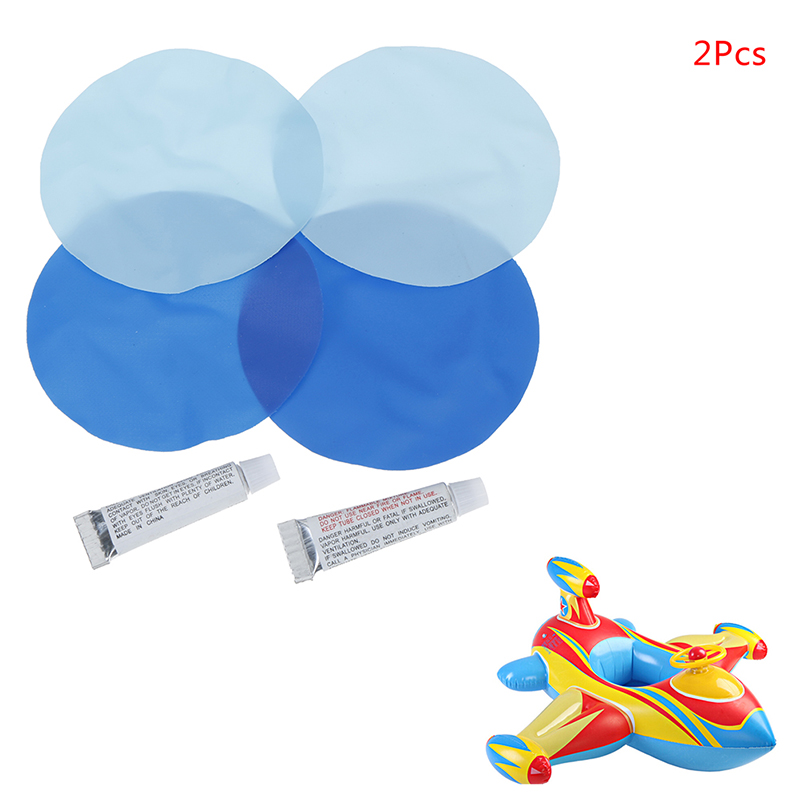 2/5Pcs Glue Swimming PVC Adhesive Inflatable Repair Glue Tube Patch Kit For Boat Pool Yoga Ball Swim Ring With 2 Circular Patch
