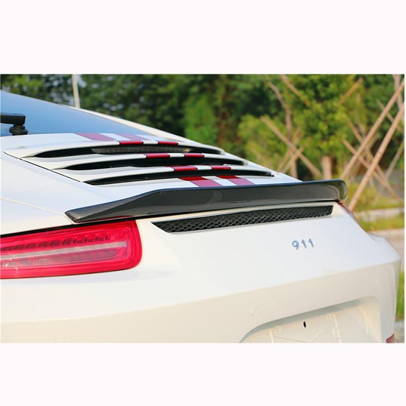 For Porsche Carrera 911 991 2012 2013 2014 2015 Car Decoration Tail Wing VRT Style Black Carbon Fiber Rear Wing Spoiler for hyundai elantra spoiler 2012 2013 2014 2015 car tail wing decoration abs plastic unpainted primer rear trunk spoiler