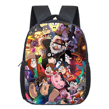 12 Inch Cartoon Gravity Falls Backpack For Girls Children School Bags Baby Toddler Mabel bag Kids Kindergarten Backpack Gift