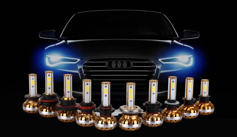 High lumen Hi/lo beam Gloden invent LED Headlight 6000k 60W 4900LM H4 9004/9007/HB1/HB5 H13 COB Fog lamp with temperature tube we hi capa 5 1 type k в санкт петербурге