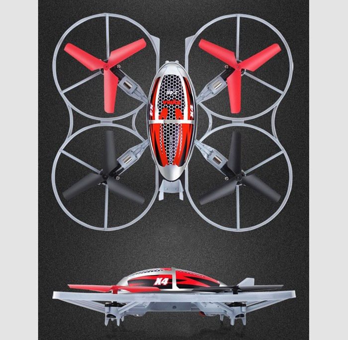 D13a Syma X4 4-Ch 2.4GHz 6-Axis Gyro RC Helicopter Quadcopter With Flash Lights Mini Remote Control Helicopter Quad Copter Toys