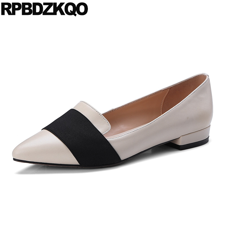 Slip On Work Designer Wide Fit Shoes Ladies Black Nude Chinese Office China  Pointed Toe Genuine Leather Women Comfortable Flats e14bb59198c6