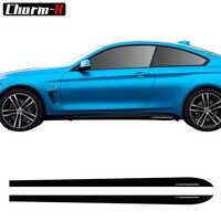 2pcs New Style M Performance Side Skirt Sill Decal Stripe Vinyl Sticker for BMW 4 Series F32 F33 F34 420i 428i 435i