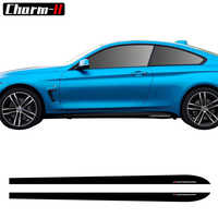 2pcs New Style M Performance Side Skirt Sill Decal Stripe Vinyl Sticker for BMW 4 Series F32 F33 F34 420i 428i 435i