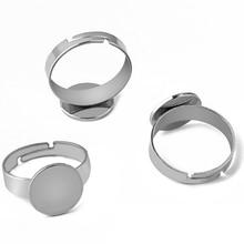 20pcs Stainless steel 8MM/10MM/12MM flat gemstone bottom tra