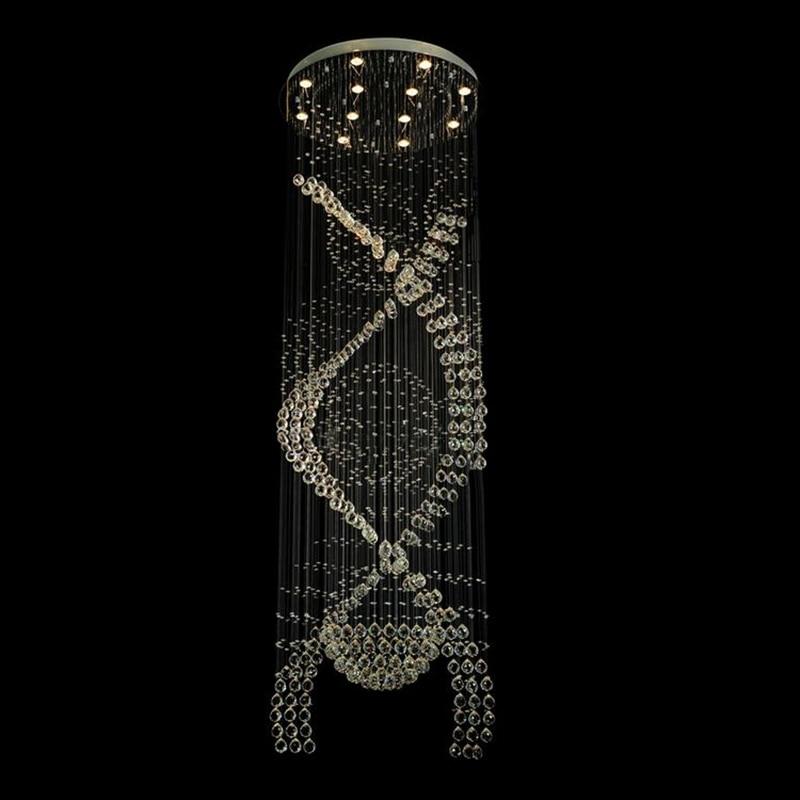 Deckenleuchten & Lüfter Kronleuchter Führte Moderne Wohnzimmer Lampen Kristall Kronleuchter Led Lampe Treppe Beleuchtung Lange Kristall Spirale Kronleuchter Licht Hause Licht & Beleuchtung