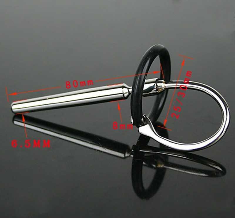 Plugue pênis Uretral Cateteres Som 80mm Produto Do Sexo Brinquedo Do Sexo Masculino Dispositivo de Castidade Soando Brinquedo Tipo de Cilindro 609 J7-1-69