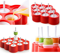 Hot Sales Silicone Ice Lolly Mini Ice Pops Mold Ice Cube Cream Ball Maker Tray Tools