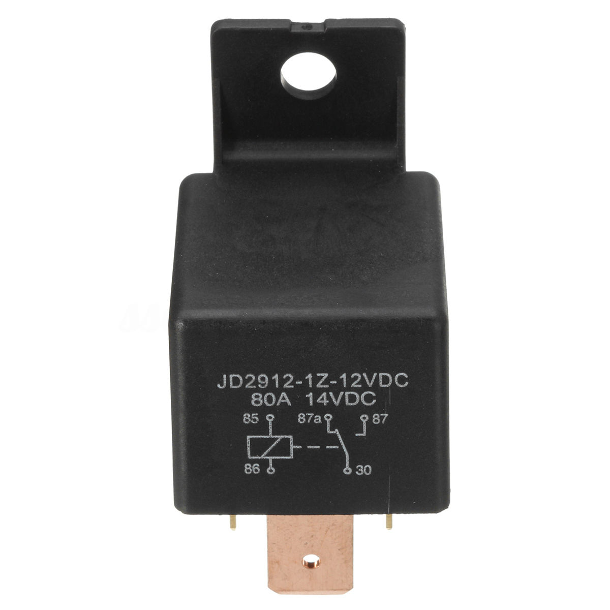 Mayitr Waterproof Black Car Relay 12V 80A 5Pin DC AMP SPDT Relay