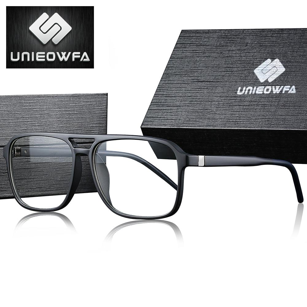 Clear Transparent Glasses For Men Frame Optical Degree Eyeglasses Frame TR90 Prescription Spectacles Grade Myopia Eyewear Frame
