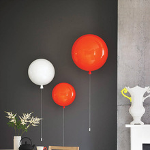 Modern Light E27 LED Wall Lamp Minimalist Colorful Balloon Indoor Living Room Children Bedroom Wall Light Aisle Sconce Lamp Deco