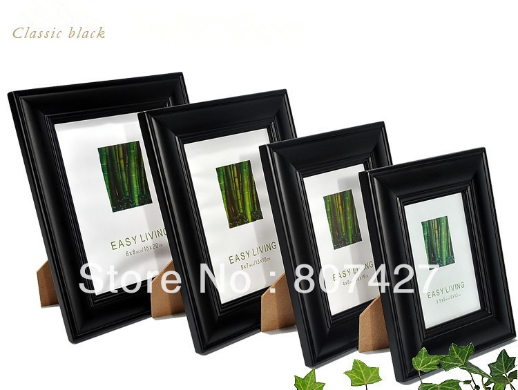 4x6 inch european table setting real wood frame picture frame hanging wall 20 inch 24
