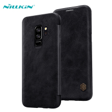 Leather Case For Samsung Galaxy S9 Plus Luxury Ultra Thin PU Leather Flip Cases Cover For Samsung Galaxy S9 NILLKIN Qin Series nillkin pu pc flip open case w display window for samsung galaxy mega 2 black