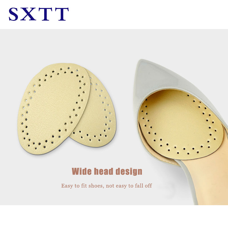 SXTT-1 Pair leather Shoe Insole Pads Forefoot Shoes Cushion Women High Heel Half Insole Feet massage insole for women heel high leather latex half size heels pads shoe insoles antibacterial thickened insert feet care