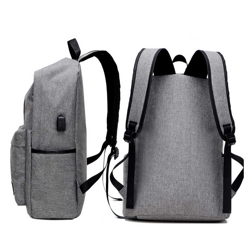 e1a77dea7ab7 Canvas Men school Backpack SchoolBag for Boy Teenage USB teens back pack  Male back bag High School bags Preppy Style 2018 new