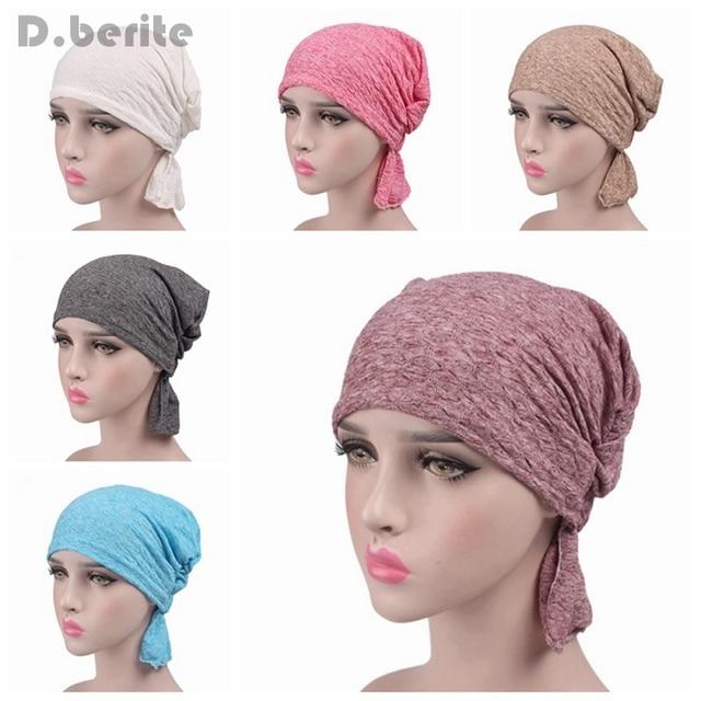 Los hombres de las mujeres de algodón elástico turbante sombrero ...