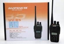BaoFeng UVB5 УФ-B5 Портативной pации UHF VHF Двухдиапазонный CB pадио 99CH Двойной Дисплей FM Приемопередатчик для охоты путешествия рация