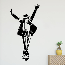 Black Stickers dancing man Wall Decal Art Vinyl For Kids Room Living Mural Home Decor Decoration Sticker