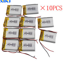 XINJ 10 sztuk 3.7V 470mAh litowo polimerowy akumulator lipo komórek 582535 dla smart watch MP3/MP4 odtwarzacz muzyczny DVC kamera DVR zegarki DVD