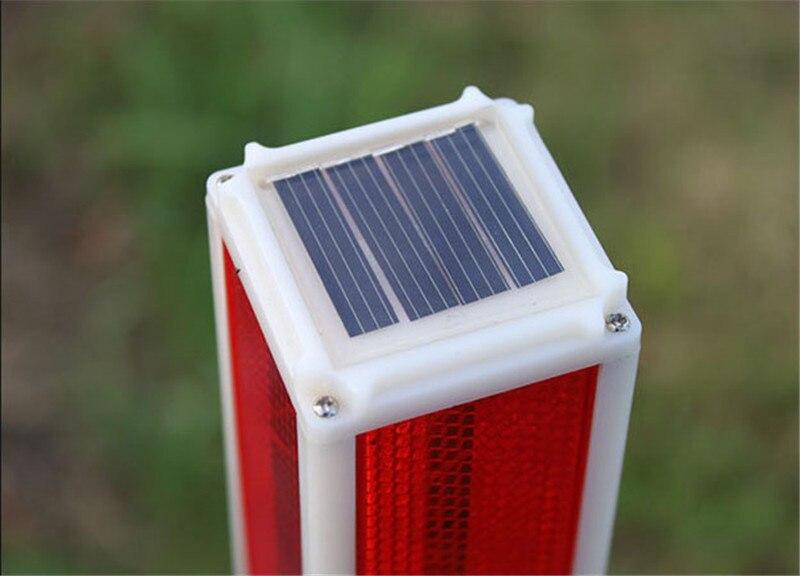 5 pc movido a energia Solar À Prova D' Água luz de Sinal 77 cm Tráfego luz Vermelha Ao Ar Livre Enterrado lâmpada subterrânea para a Rua