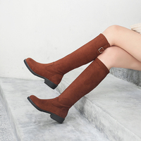 Women Knee High Boots Women Shoes Sexy High Heels Black Tan Female Autumn Stiletto Ladies Shoes Plus Size 42 43