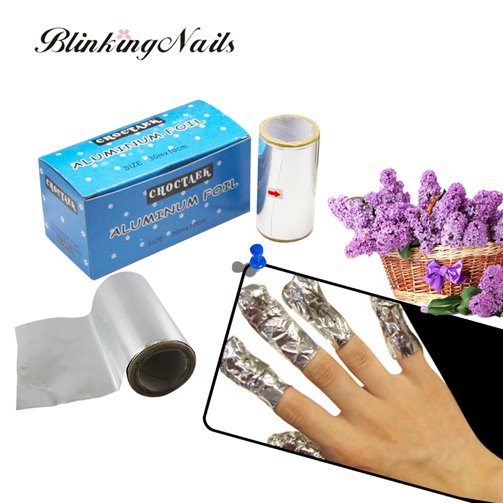 Aliexpress Blinkingnails 1 5m Tinfoil Aluminium Foil Nail Art Gel Remove Wrap Tool Finger Polish Remover Aluminum Box From Reliable