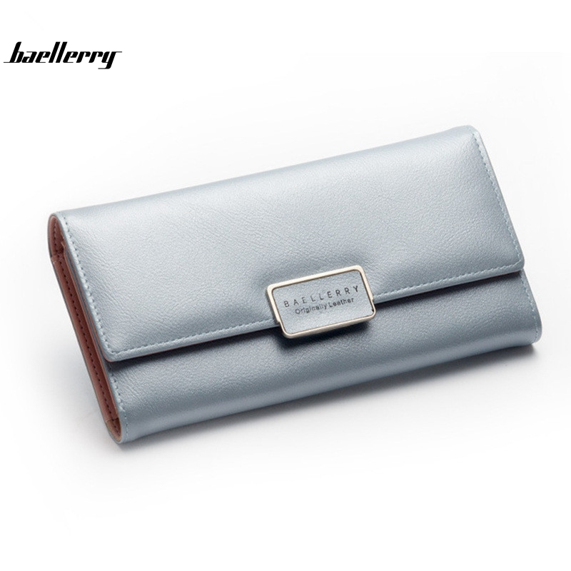 Baellerry Women Wallet Long Designer Leather Coin Purses Female Clutch Credit Card Holders Solid Candy Color Hasp Wallet Girl baellerry women wallets business fashion leather long women purse credit card holder coin purses solid lady clutch free shipping
