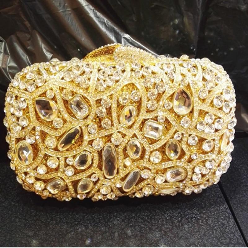 Diamond Women Evening Handbags Purse Wedding Party Minaudiere Crystal Clutch Bag