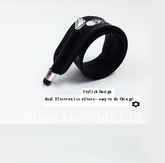 Free Shipping Cool Design Silicone Bracelet Stylus Pen Wrist Touch For Iphone Samsung