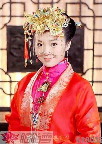 Guosetianxiang Great National Beauty  TV Play Yanzhixue Xiuhefu Costume Hair Jewelry Hair Tiaras national beauty tian xiang lighting 8128
