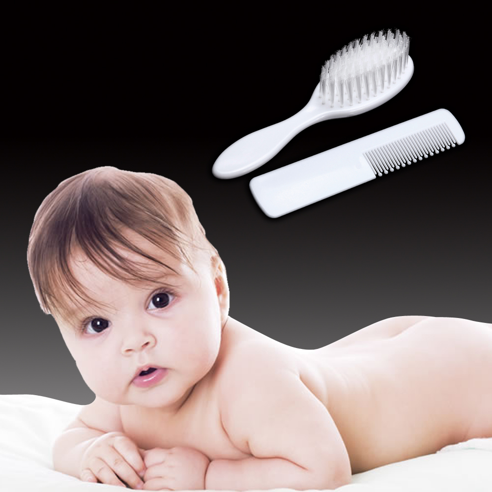 2pcs/Set Newborn Baby Hair Brush Soft Infant Comb Head Scalp Massager Tool Set ABS Baby Kids Hair Care Baby Hair Brush Comb wash comb brush to wash clean scalp care wash bath brush comb massage head massager