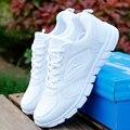Модельер, чтобы создать новый мягкое дно обувь белые спортивная обувь воздухопроницаемой сеткой размер Корейской студентки прилив