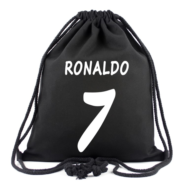 2018 Ronaldo 7# Canvas Drawstring Bags Top Quality Colorful Bags For Fans Women Men Back ...