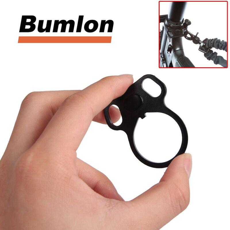 Bumlon Sling Adapter End Plate Dual Loop Ultimate Steel Model 4/15 .223 5.56 Ambidextrous Dual Oval Loop Strap Latch Adapter