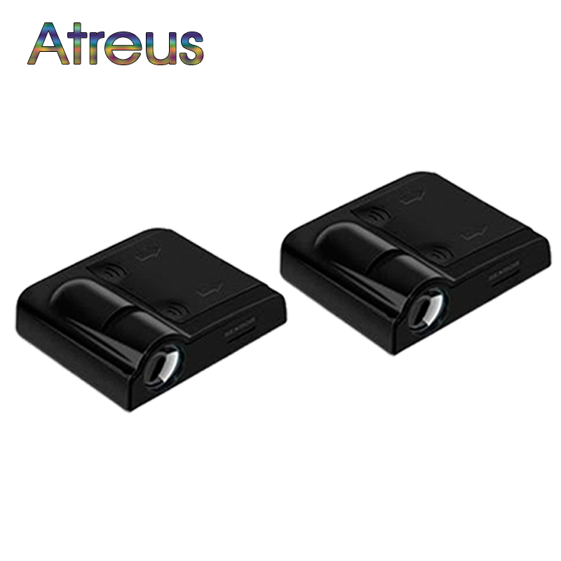 Atreus Car Door Welcome Light For <font><b>Peugeot</b></font> 206 307 407 <font><b>208</b></font> Suzuki swift grand vitara Fiat 500 Acura Lada <font><b>LED</b></font> Logo Laser Projector image