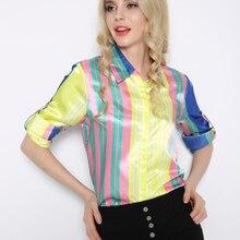 aa597ddaa1 Europa más el tamaño de manga larga Arco Iris Color camisa mujeres ropa  China Tops mujeres ropa femenina WCS23080