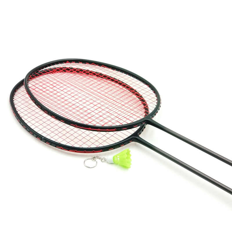 LOKI VT Series Black Carbon Badminton Racket 6U 72g Super Light Training Badminton Racquet 22-30 LBS with String and Bag