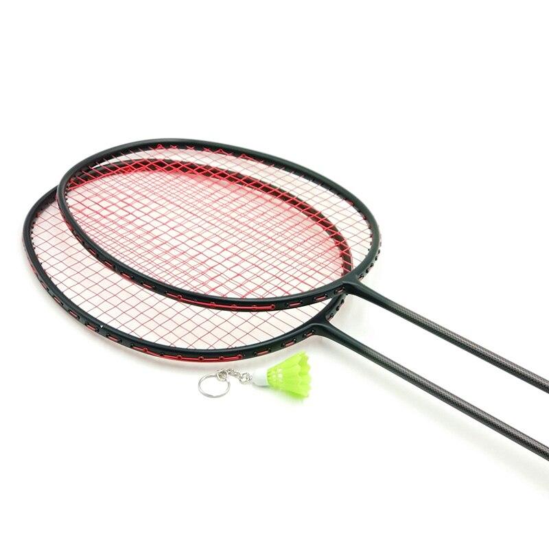 LOKI VT Série Noir Badminton De Carbone Raquette 6U 72g Super Léger Formation Raquette De Badminton 22-30 LBS avec chaîne et Sac