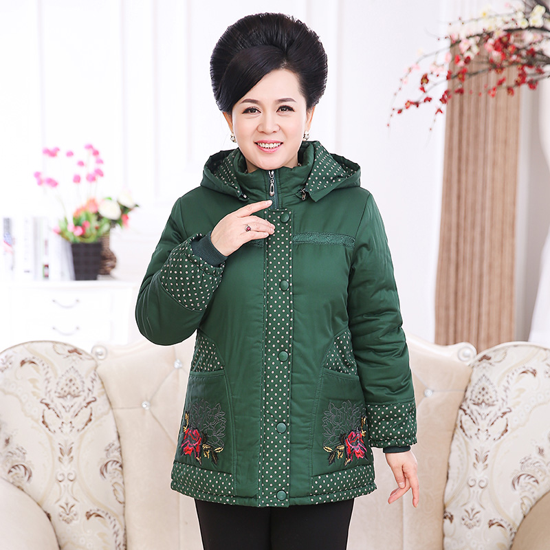2017 Thick mother loaded down  in the elderly women 's winter cotton grandma Mianfu elderly jacket 2017 winter coat grandma installed in the elderly women 60 70 80 years old down jacket old lady tang suit