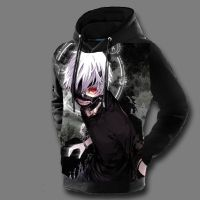 Tokyo Ghoul Hoodies Mens 3D Print Hooded Pullovers Ken Kaneki Anime Character sweatshirt Anime cosplay costume 112001