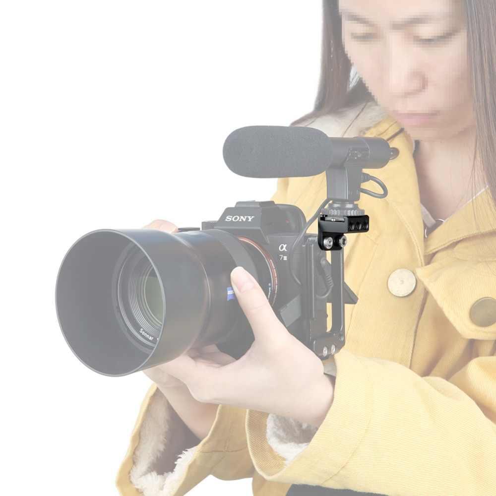 """NICEYRIG Koude Schoen Mount 1/4 """"Schroef Hot Shoe Stand Camera Cage Rig 1/4 Koude Schoen Flash Microfoon Beugel DSLR kooi Ondersteuning Rig"""